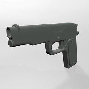 3D model Gun 02