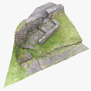 3D scanned stone steps
