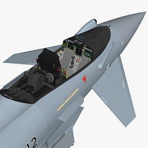 Cockpit Eurofighter Typhoon German detailed 3D