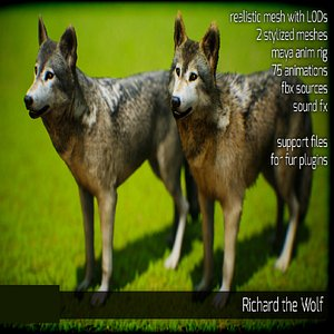 animals wolf 3D