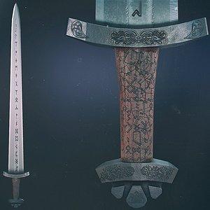 3D Scandinavian Battle Sword model