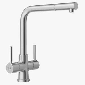 3D Angular Dual Lever Sink Mixer Tap