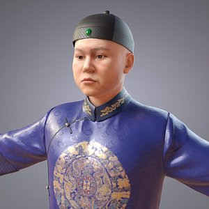 3D model people china qing
