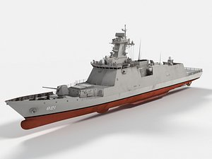 ROKS Seoul FFG-821 Daegu Class Frigate 3D model