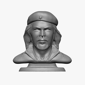 3D Che Guevara statue 3D print model