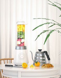 3D modeling and rendering of juicer