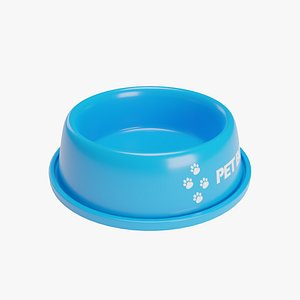 Pet Bowl Blue 3D model