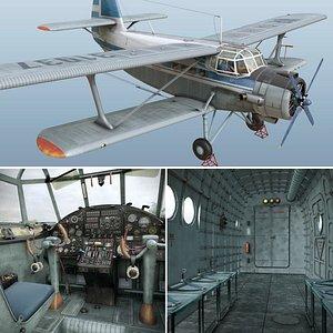 3D Antonov An-2T