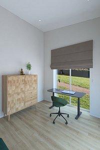 Simple work room 3D