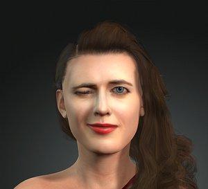 eva green 3D MODELS of Eva Green the famous actress model