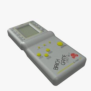 3D model tetris gamepad