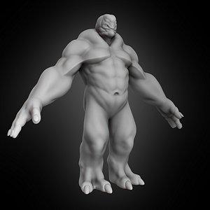 troll golem monster 2 3D model