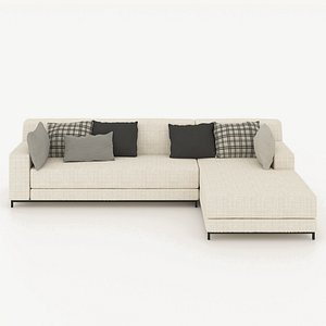 3D Sectional Sofa, corner sofa model