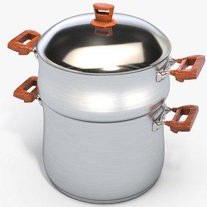 3D model couscoussier cooker