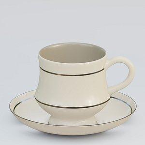Ceramic teacup 3D model