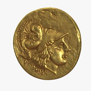 Stater Alex Great Ancient Coin model