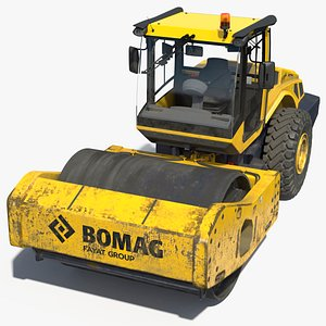 3D BOMAG BW226 DH5 Single Drum Compactor Dirty model