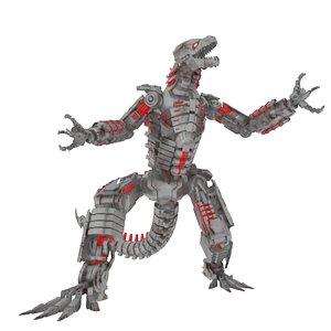 godzilla mecha mechagodzilla 3D model