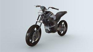 3D CINEMA 4D MOTOR BIKE BMW model