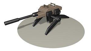 Heavy gun R1 3D model