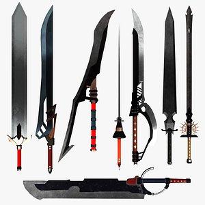 3D model games sword