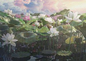 Realistic Lotus 3D