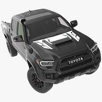 Toyota Tacoma TRD Pro Midnight Black Metallic 2021 Rigged