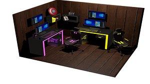 3D Gamer Room model