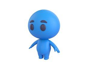 blue man character 3D model