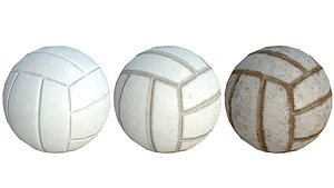 Volleyball Low Poly PBR Model 3D model