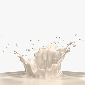 3D milk crown splash