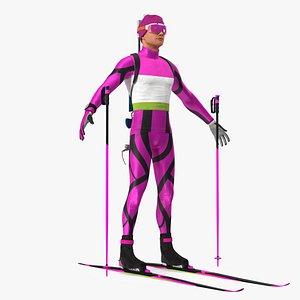 Biathlon Athlete Male T Pose 3D