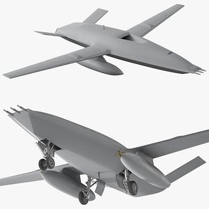 Aerial Refueling Drone Rigged 3D model