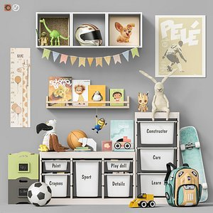 3D model Toys and furniture set 107