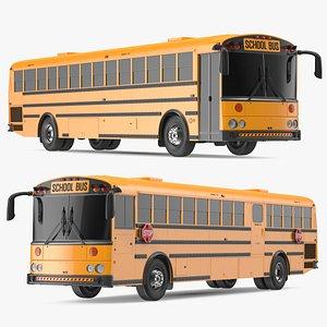 3D Transit School Bus Exterior Only model