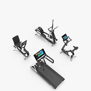 3D Home Personal Line group Technogym model