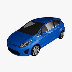 fiesta 2011 3-doors 3D model