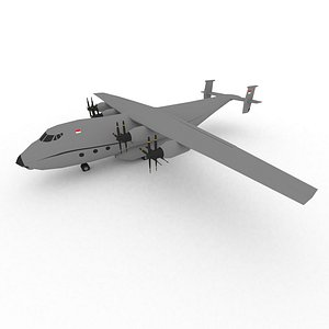 Low Poly Antonov An-22 Cargo Airplane model