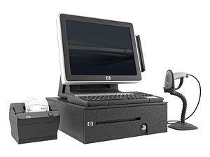 HP Cashier 3D model