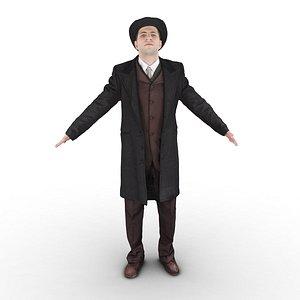detective male t 3D model