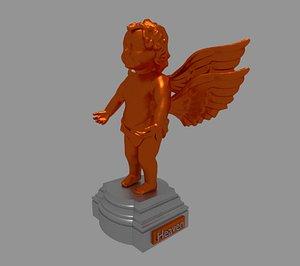 statue angel bronze 3D model