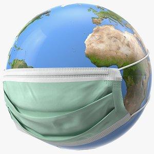 3D earth stylized mask medicine
