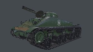 ww2 tank sherman 3D model