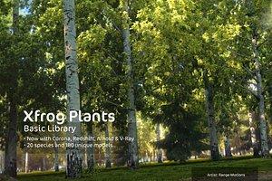 basic trees dvd xfrogplants 3d model