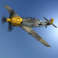 Messerschmitt - BF-109 E - White 1