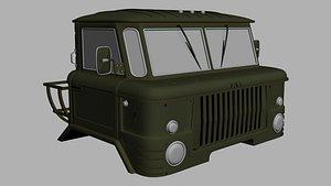 Gaz 66 cabin 3D model
