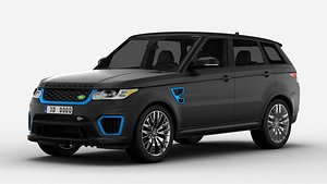 Land Rover Range Rover Maroon Sport SVR 3D Model 3D model