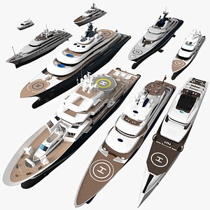 yacht ship vessel 3D