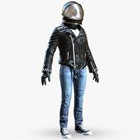 Spacesuit Astronaut Rigged