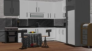cabinets oven table 3D model